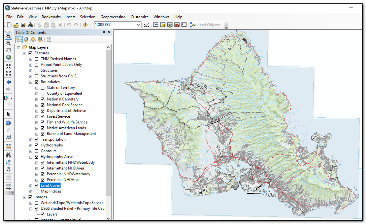 Using USGS TNM Vector Data to Create Seamless Topographic Maps in ...