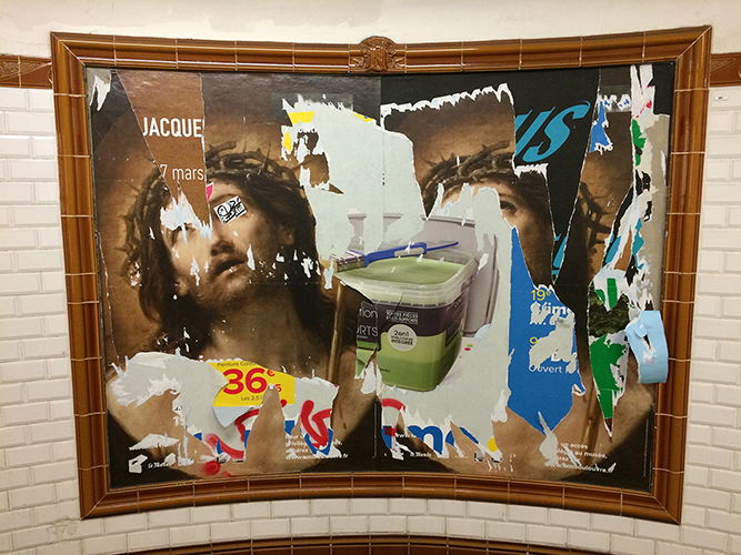 "Metro Jesus   8"" x 10"" archival pigment print. Includes 11"" x 14"" mat.  $300"