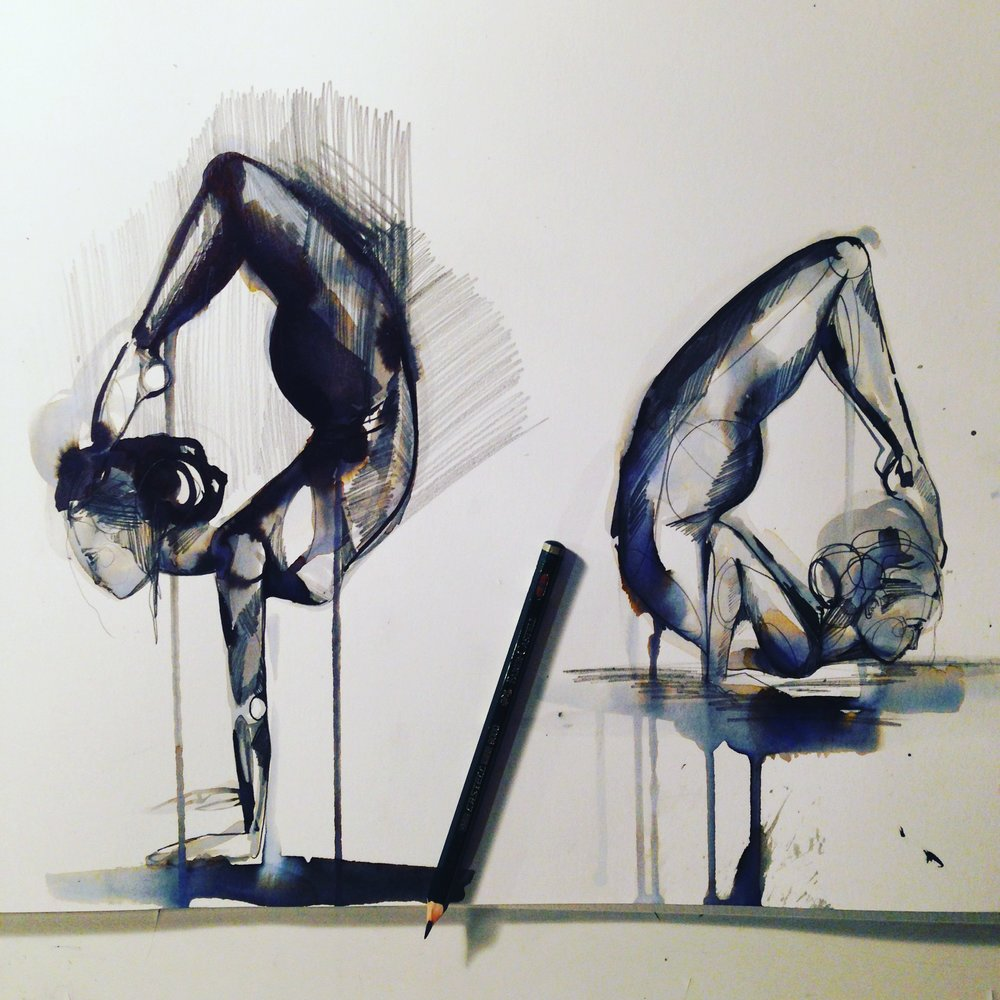 Ink duo sketch yoga - Holly Sharpe.JPG