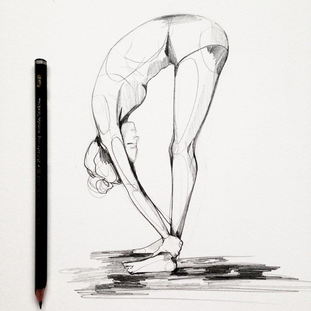 pencil yoga sketch - Holly Sharpe.JPG