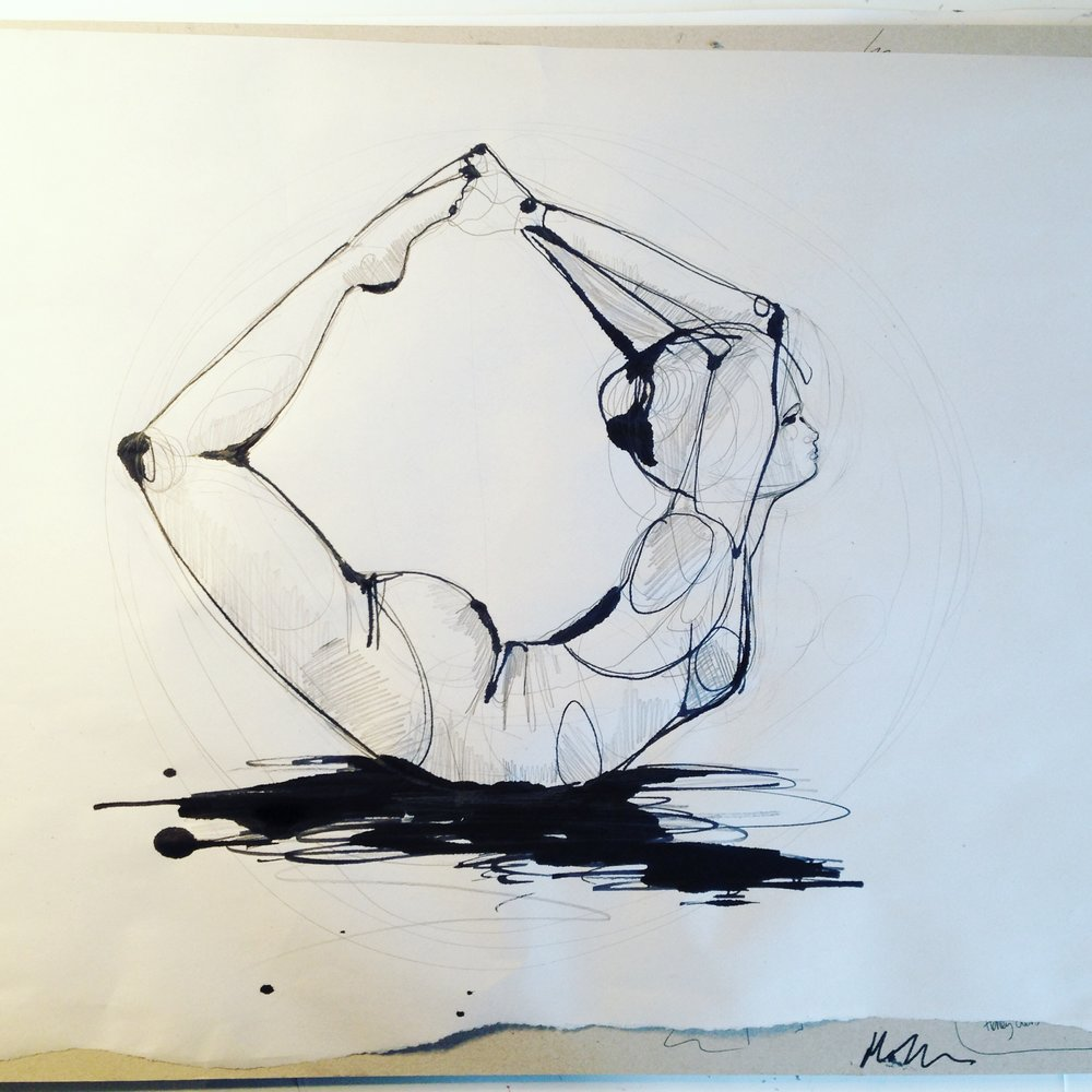 pencil and ink yoga - Holly Sharpe.JPG