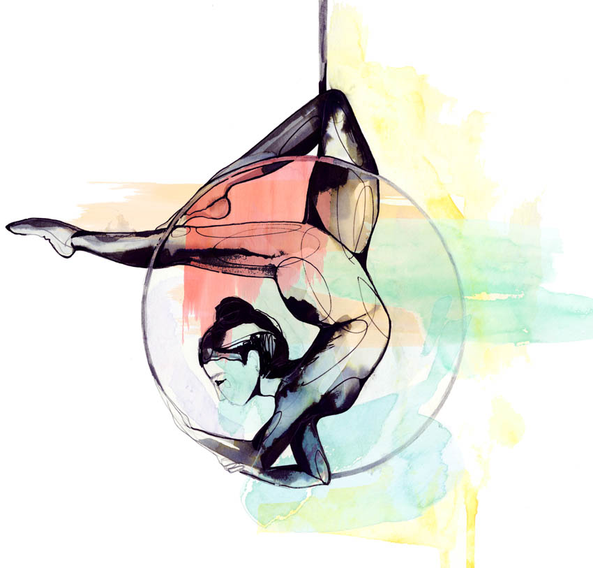 Trapeze illustration by Holly Sharpe