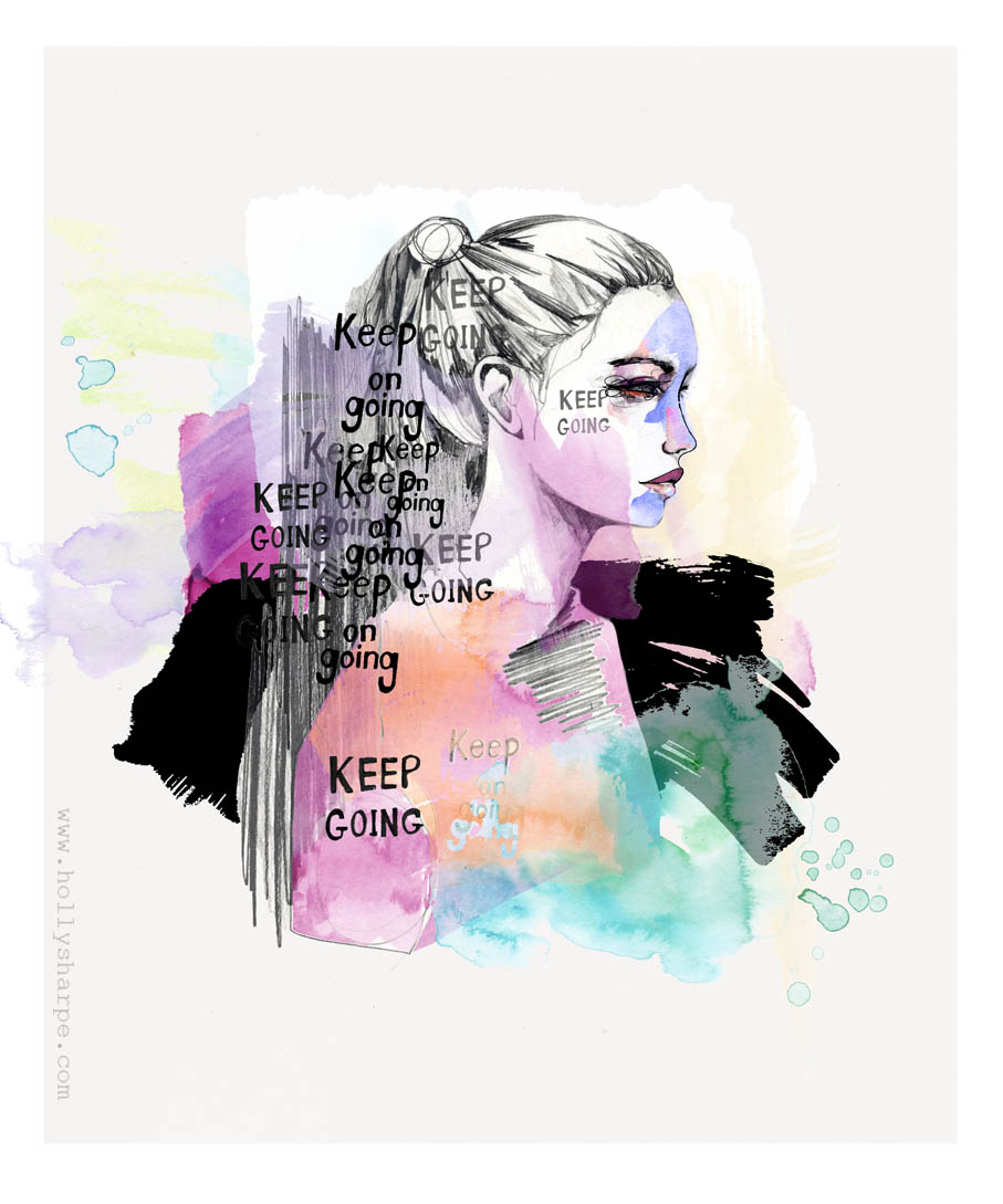 Keep Going illustration by Holly Sharpe