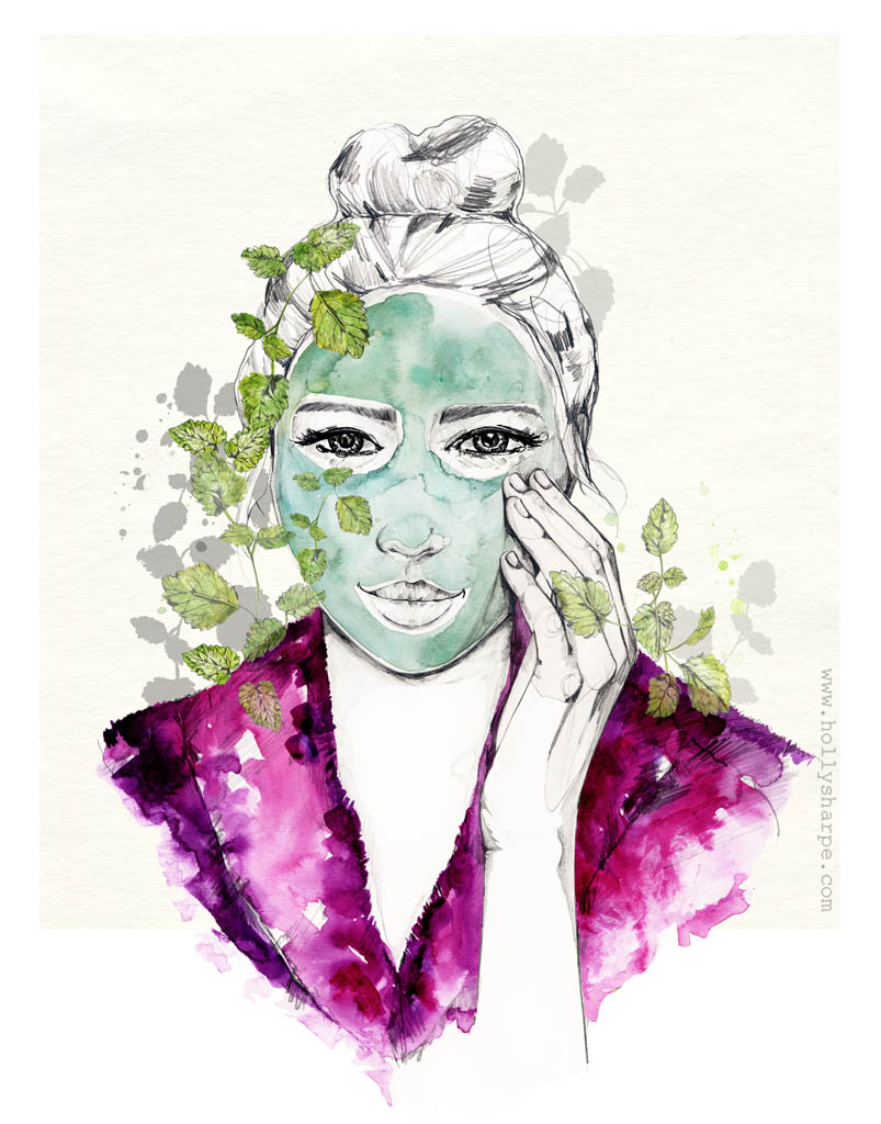 Face Mask illustration by Holly Sharpe