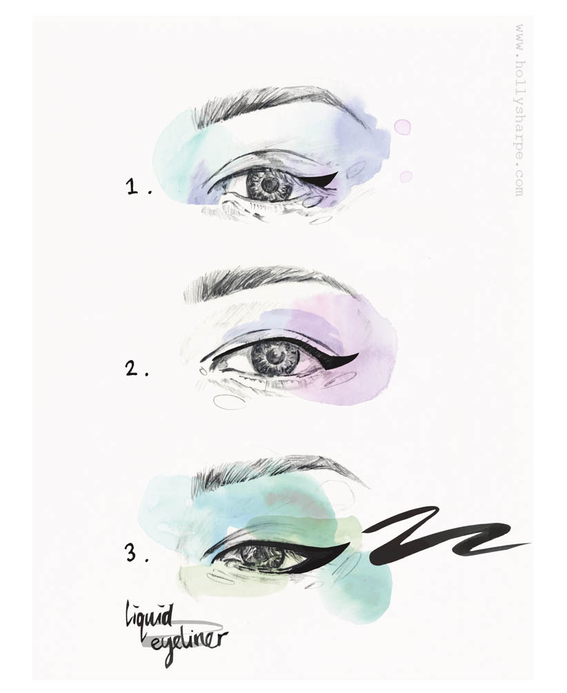 Eye liner illustration by Holly Sharpe