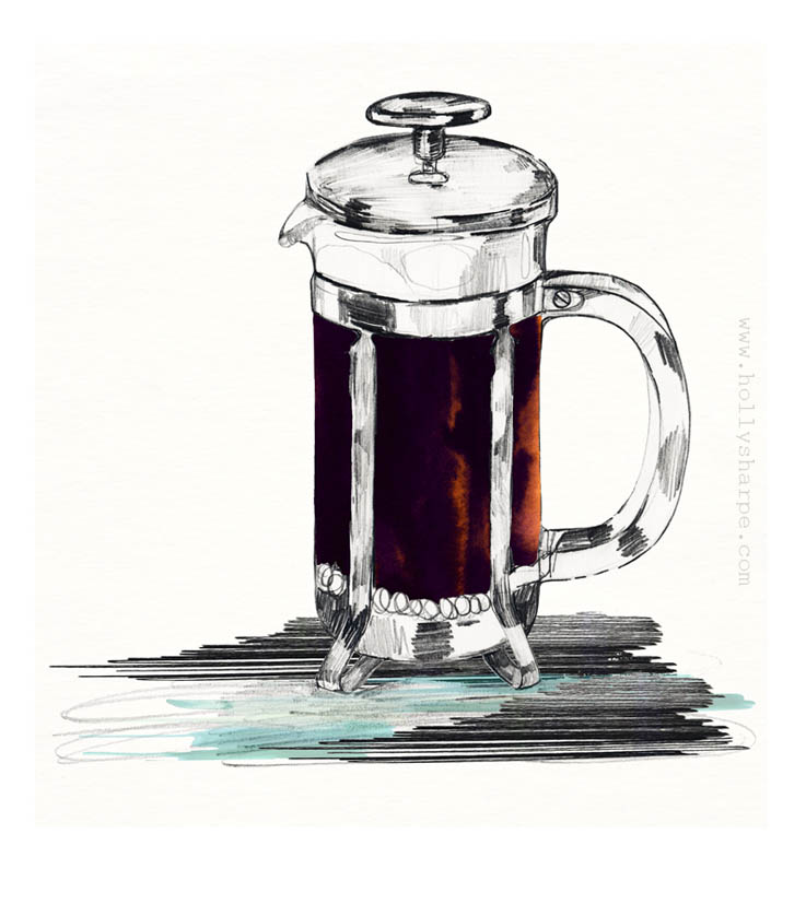 Black Coffee illustration by Holly Sharpe