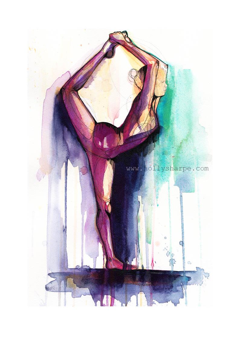 Natarajasana in colour print 72DPI Holly Sharpe.jpg