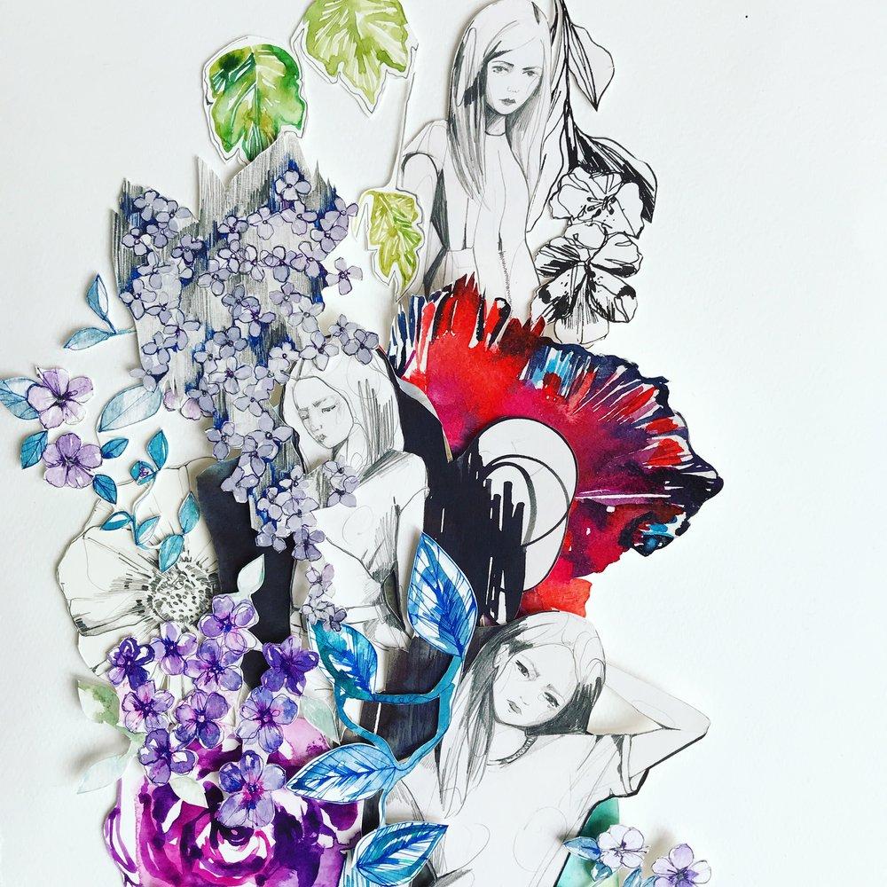 Fashion Garden collage by Holly Sharpe