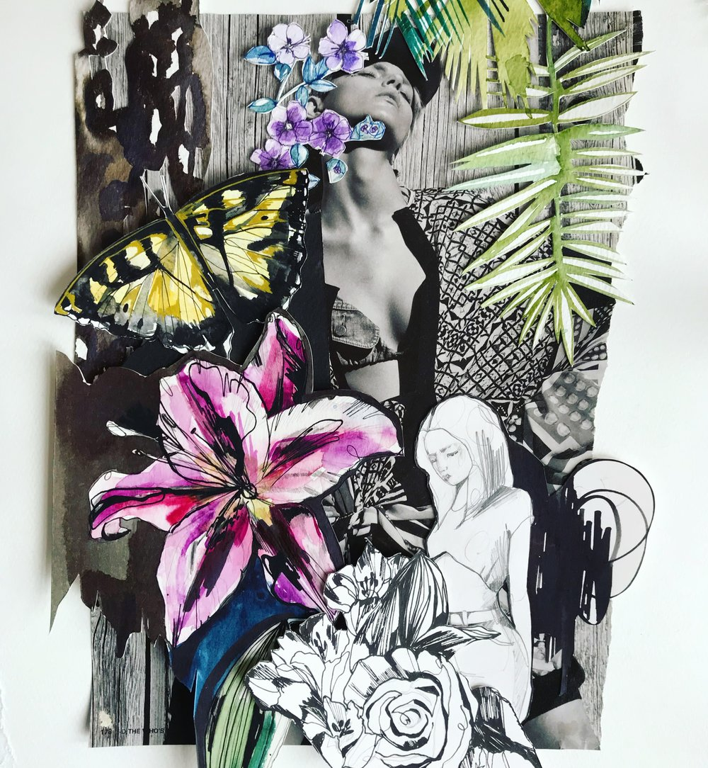 Photo + painted collage by Holly Sharpe