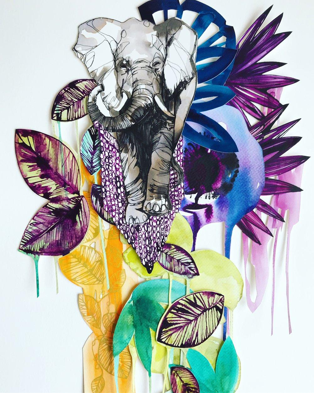 Elephant Jungle by Holly Sharpe