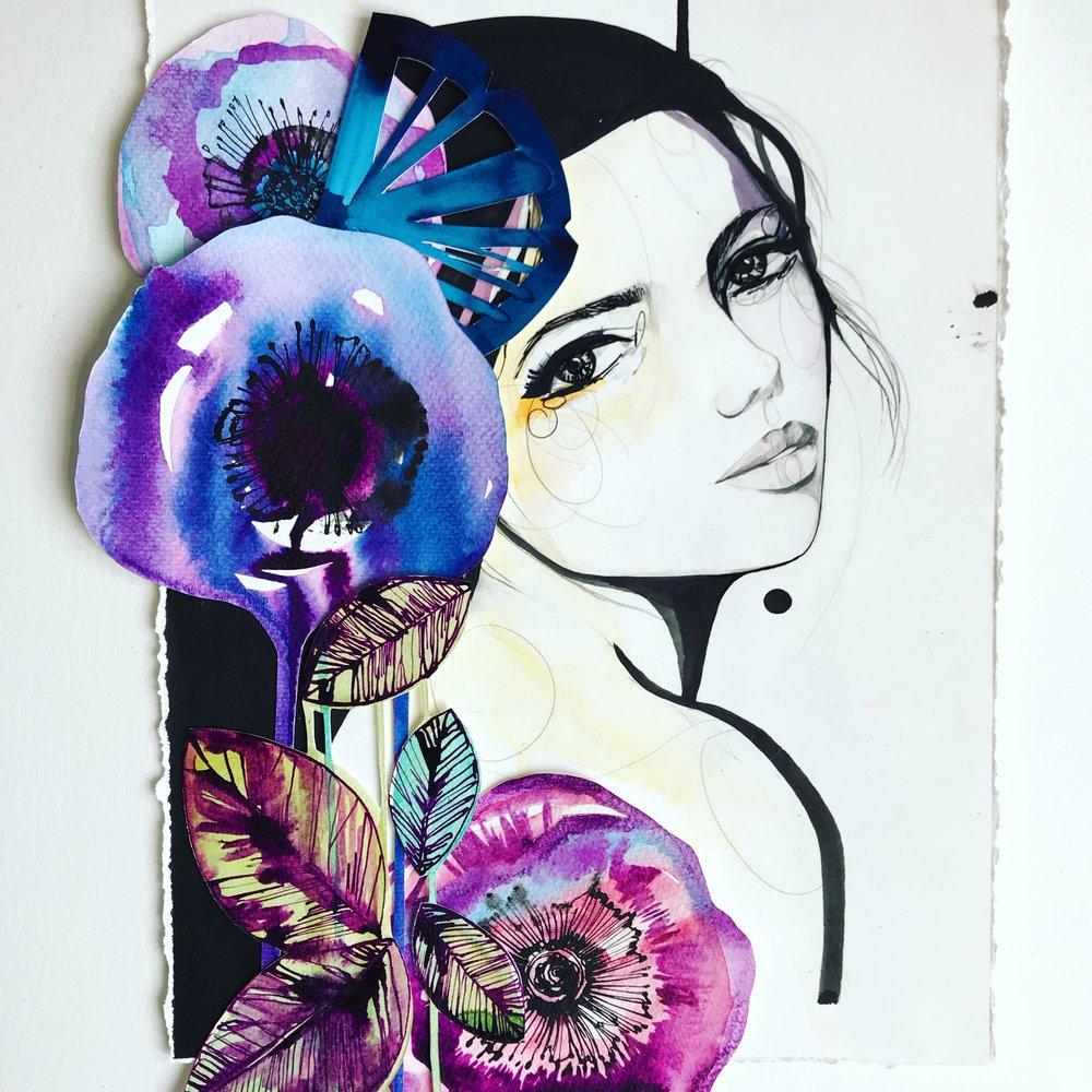 Cutwork/ collage 26 by Holly Sharpe