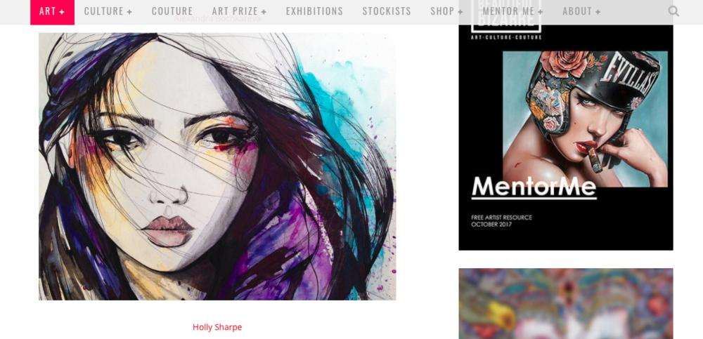 Featured on the amazing BEAUTIFUL BIZARRE magazine  here