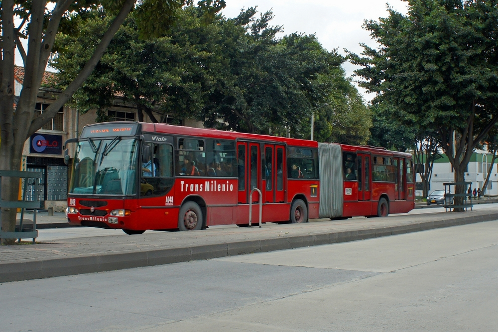 Bogota's TransMilenio: High capacity (articulated) buses