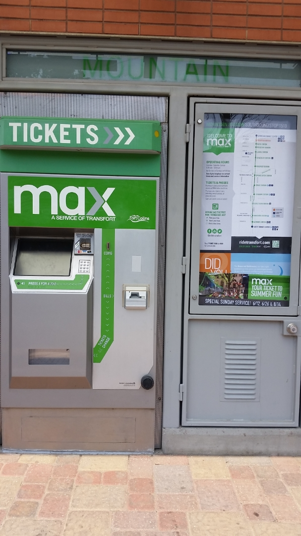 Ticket vending machine & information panel