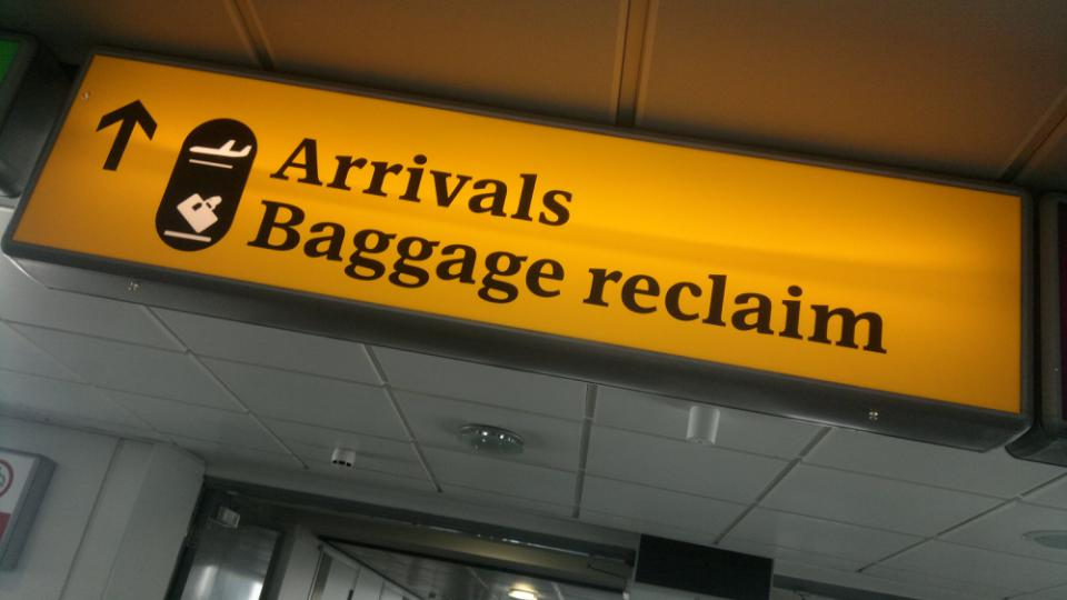 Aesthetic & minimalist design:  Heathrow airport's signage gradually reveals relevant info to people. Photo credit: WhatleyDude, Flickr