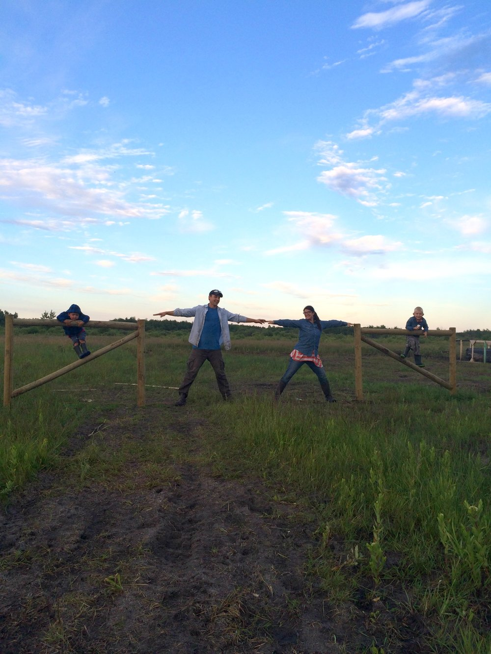 We were all pretty excited to finish the pasture fence!