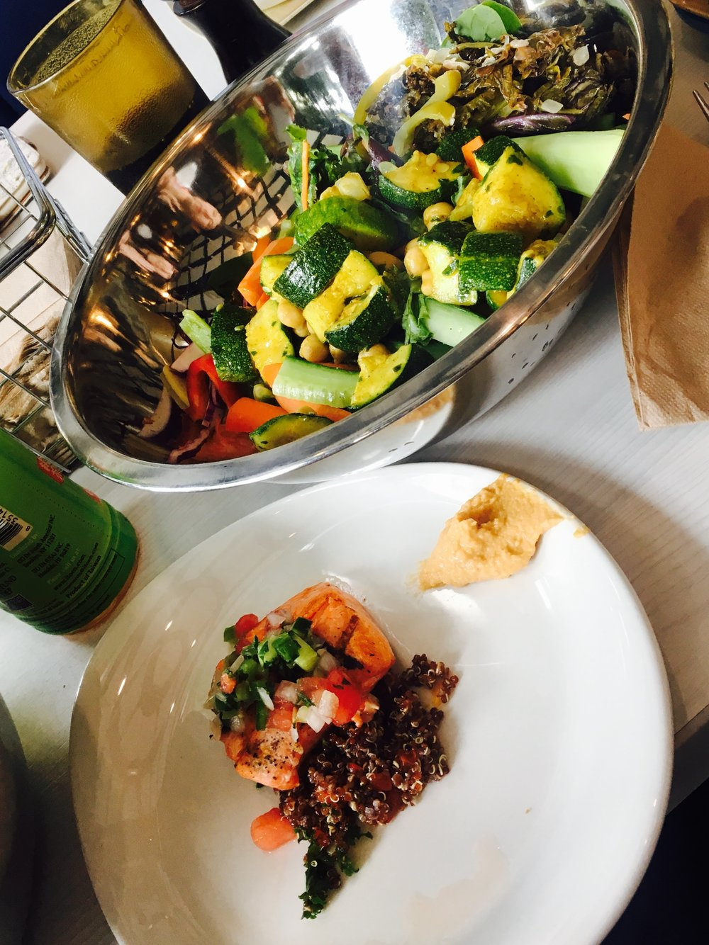 Awesome Salad & Salmon at Twitter.JPG