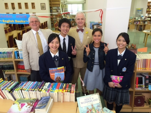 Inside the Kansai Soka Schools Library!