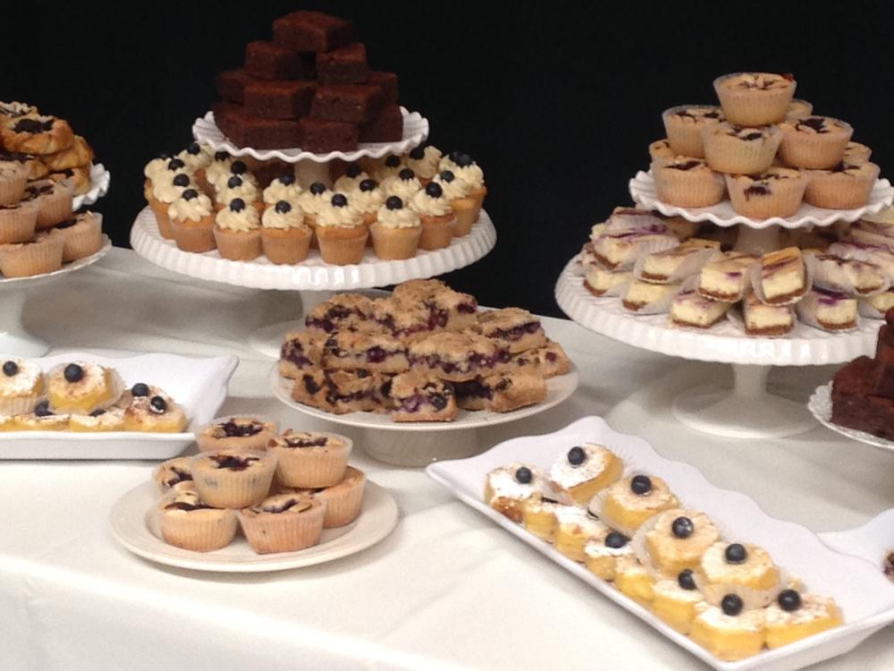 Blueberry themed dessert bar