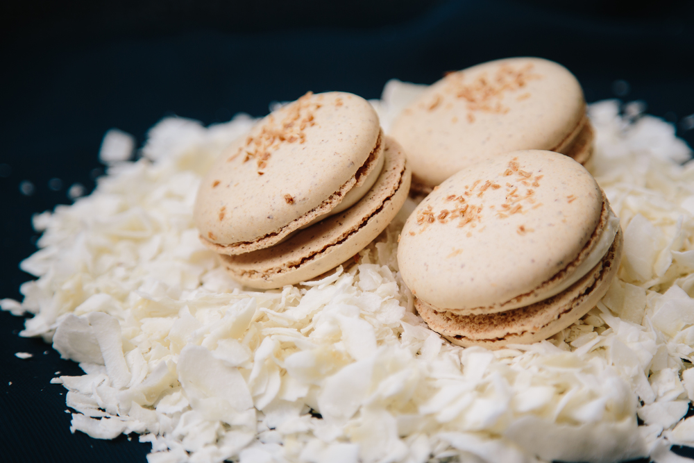 Coconut French Macaron