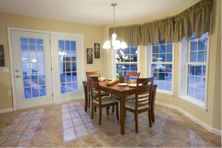 Provide good lighting around the dining room table, where you eat meals, do paperwork, and often read magazines or newspapers. Dimmer switches help control the amount of light needed.