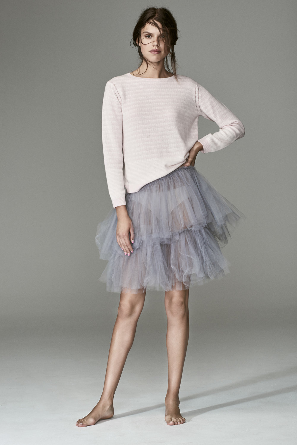 FEELING FESTIVE? REIMAGINE OUR EXCLUSIVE PINK LEMONAID KNIT SWEATER WITH A TULLE SKIRT; PERFECT FOR A PARTY OR BALLET CLASS. CLICK FOR DETAILS.
