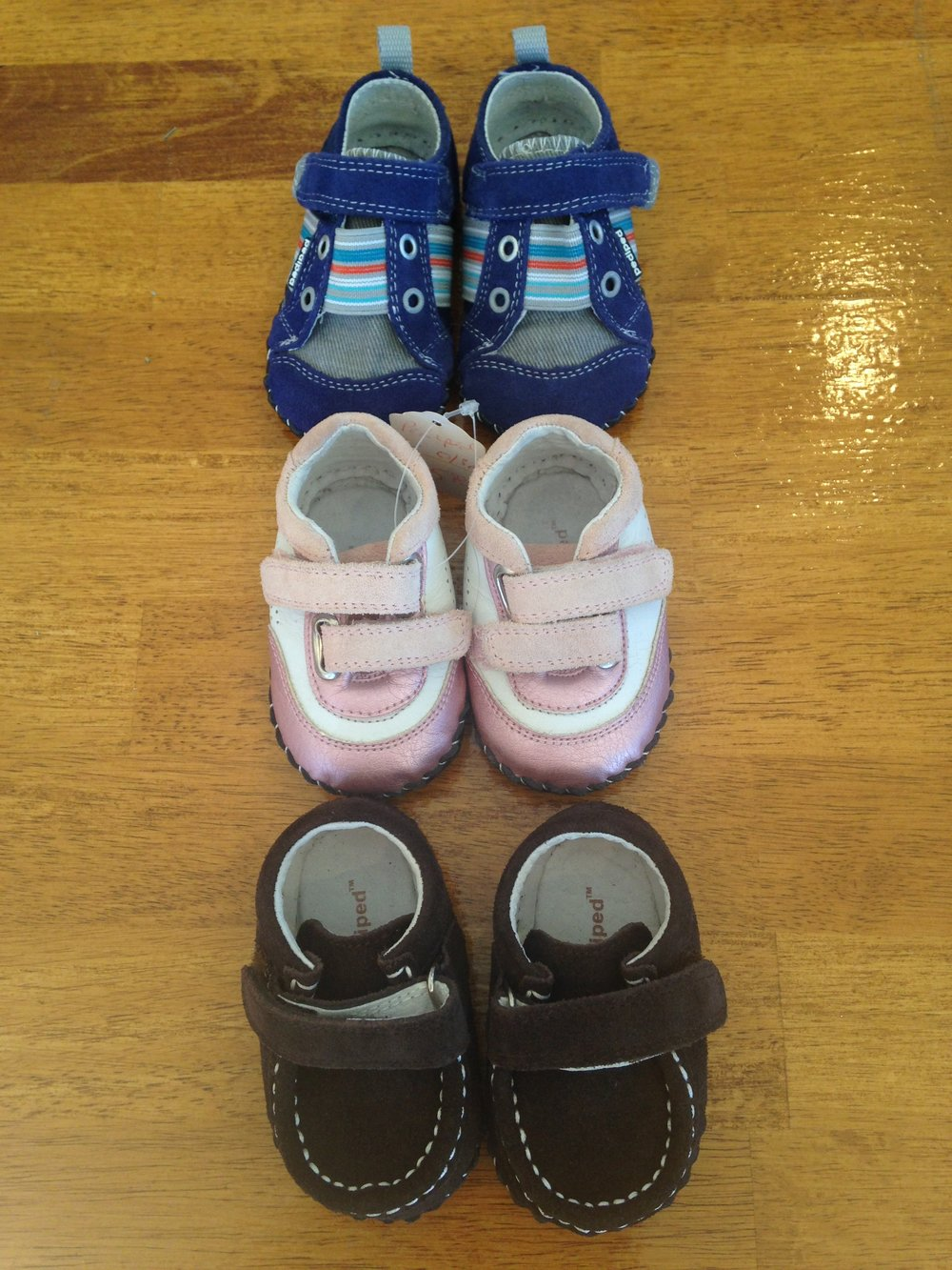 Tiny pediped shoes currently at junebug.