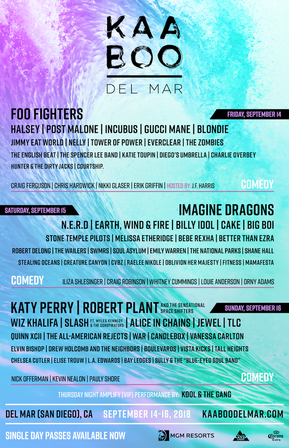Kaaboo Del Mar Announces Daily Artist Lineup And Single Day Pass