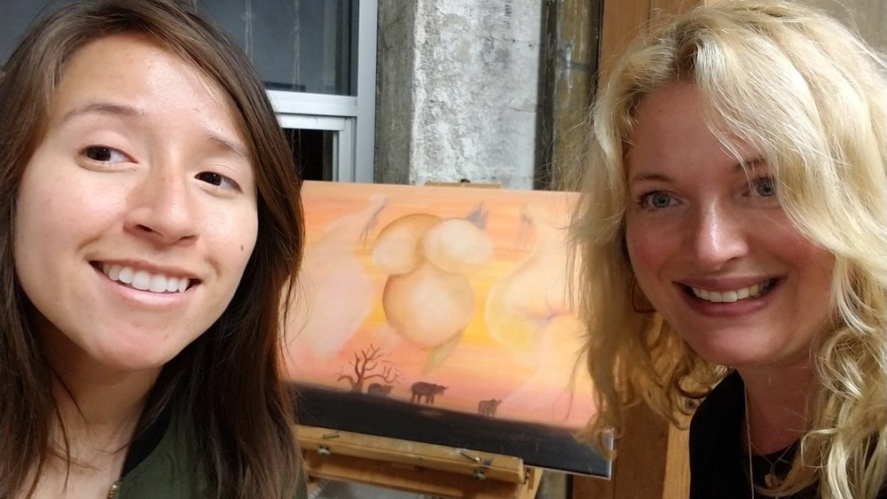 2 Irina and Myself With the Live Painting She Was Completing.jpg