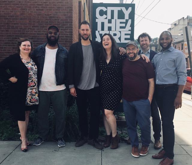 From left: Nan Barnett, Tearrance Arvelle Chisholm, Eric Micha Holmes, Clare Drobot, Matt Schatz, James McNeel, and Reg Douglas. Pittsburgh, PA.