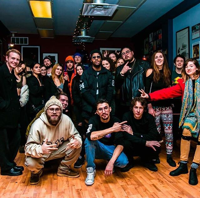 The Crew, The Family, The Future... #grateful #records #livemusic #transmissions #hiphop #scfu #neighbourhood ... Photo Credit📸 @consciouss_media