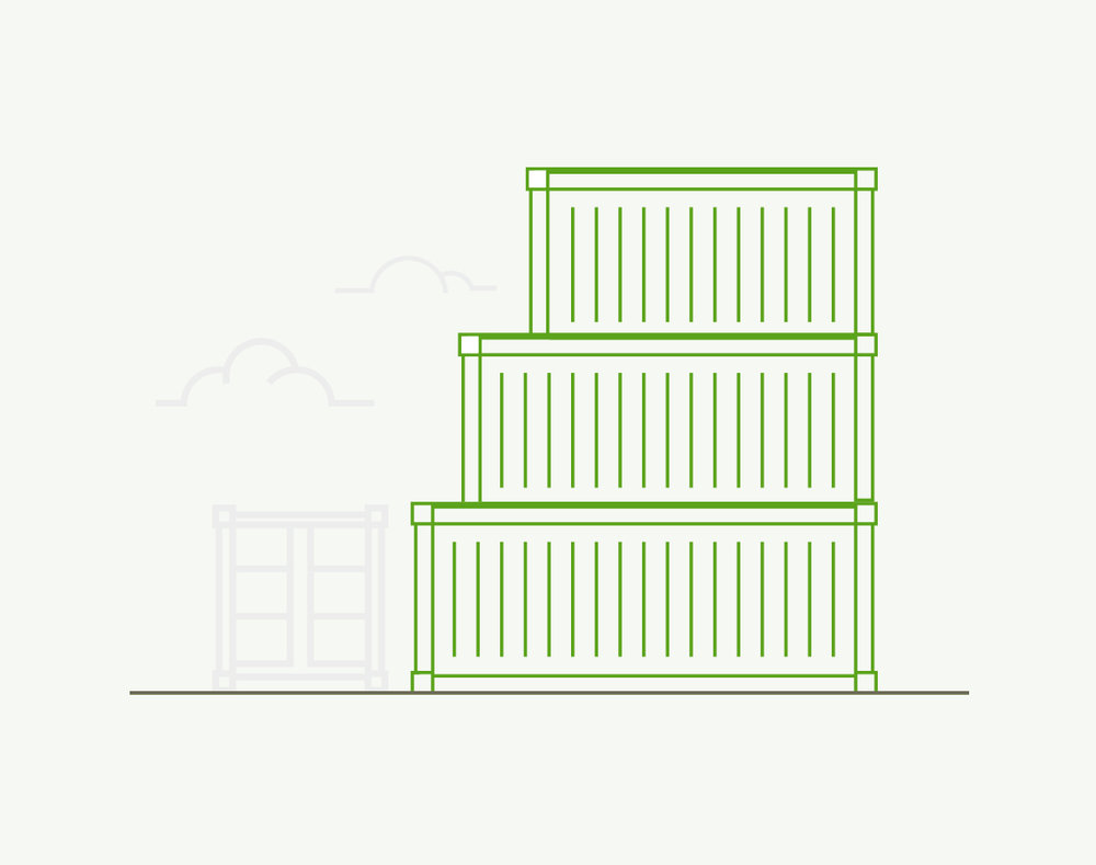 1. Select the container size. - Shipping containers are described by length and height.Length: 20' or 40'Height: Standard - 8'6