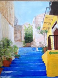 Blue Steps in Greece