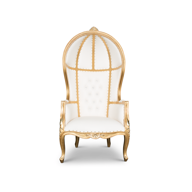 Victoire Canopy Balloon Chair - Gold/White  sc 1 st  Absolom Roche & Victoire Canopy Balloon Chair - Gold/White u2014 Absolom Roche