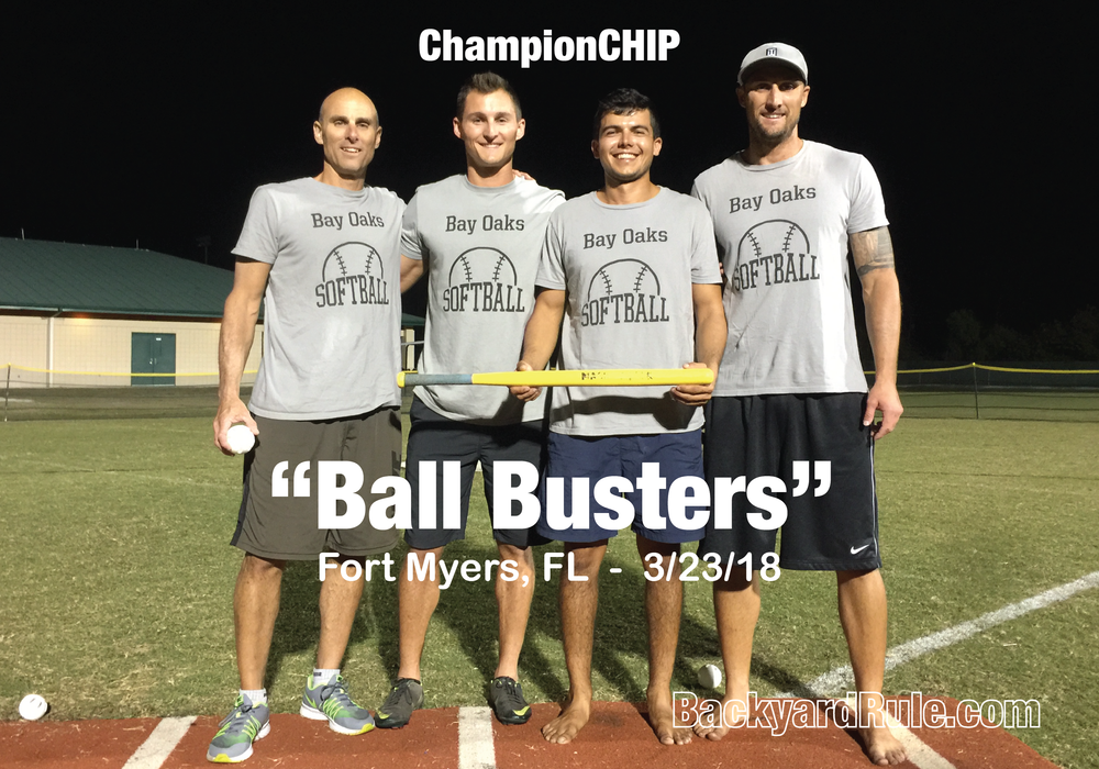 "DEFENDING CHAMPS:  ""Ball Busters"""