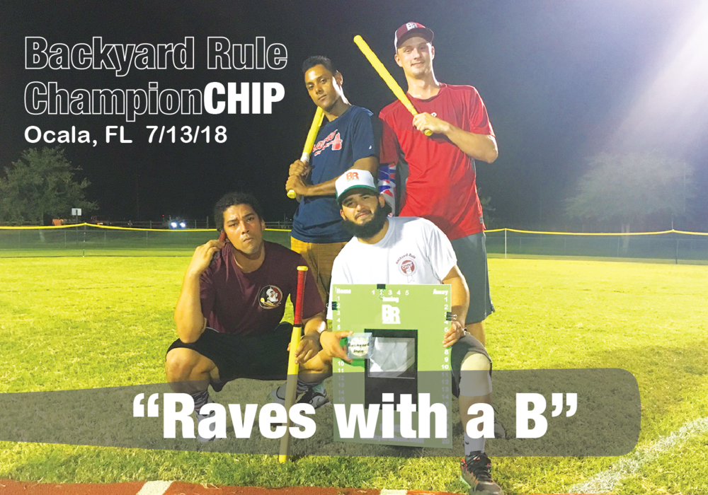 """Raves w/ a B"" earn the ChampionCHIP in Ocala on 7/13/18"