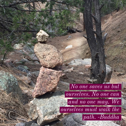 Photo taken during a hike in new mexico march 2017. No one saves us, but there is help along the way in many forms.