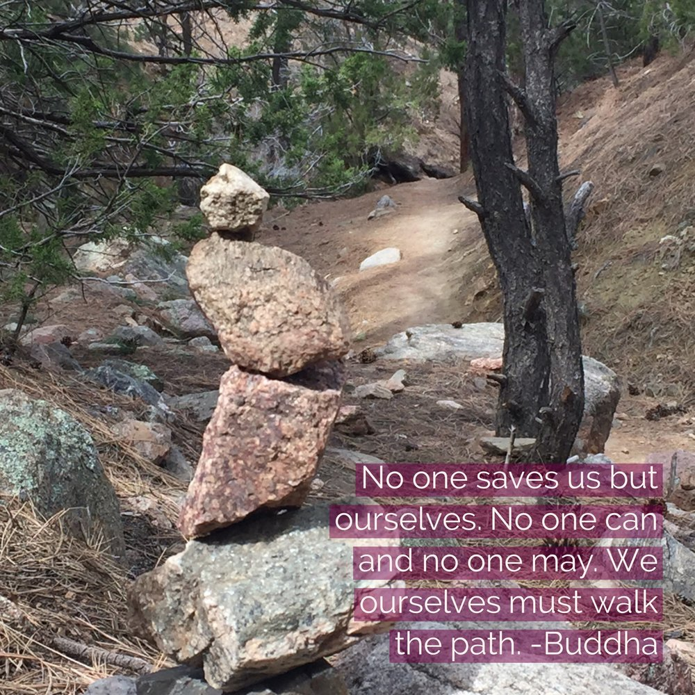Photo taken during a hike in new mexico march 2017. No one saves us, but there is help along the way in many forms. What if the work of a lifetime is a continual unfolding into our embodied Self, alchemizing our experiences, and bringing our true heart, mind, understanding, and potential to all we are and do?  I'm grateful to all my clients for the opportunity to travel this path with you.