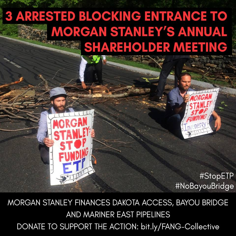 Activists Disrupt Morgan Stanley Shareholder Meeting to Protest