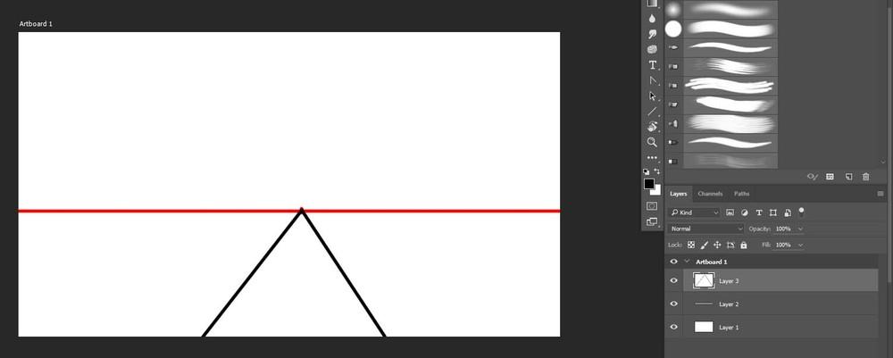 1-pt perspective railway tracks.