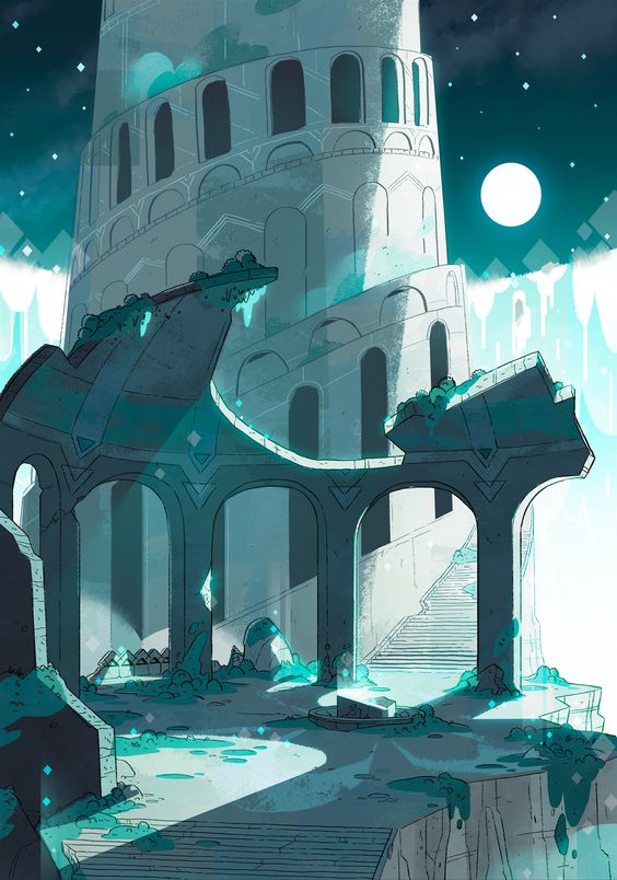 Beautiful background from Steven Universe, wouldn't work in a Marvel film.