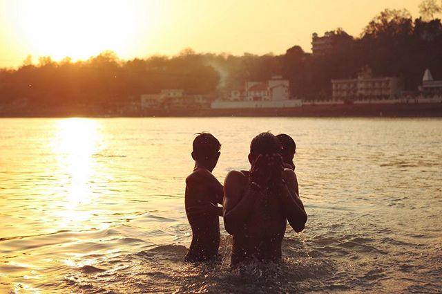 Holy dip in Mother Ganga • Rishikesh, India •