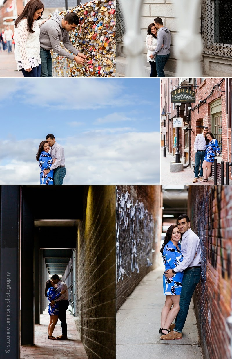 Old Port Portland Maine Engagement Portraits