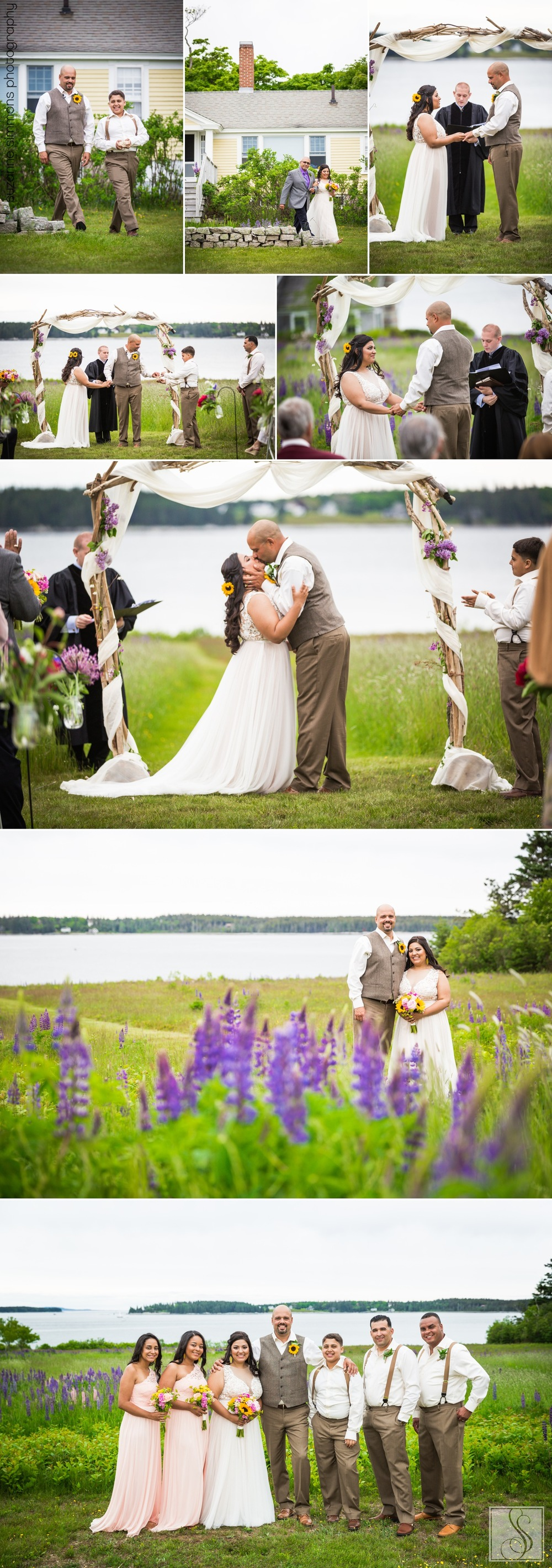 Lupine wedding in Southwest Harbor, Maine