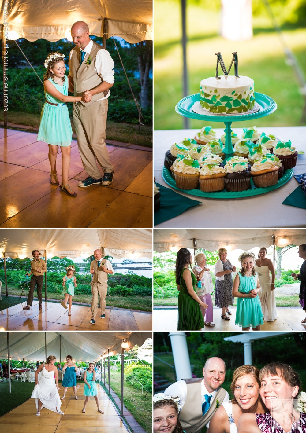 Tented wedding reception in Maine at The Mooring Bed & Breakfast