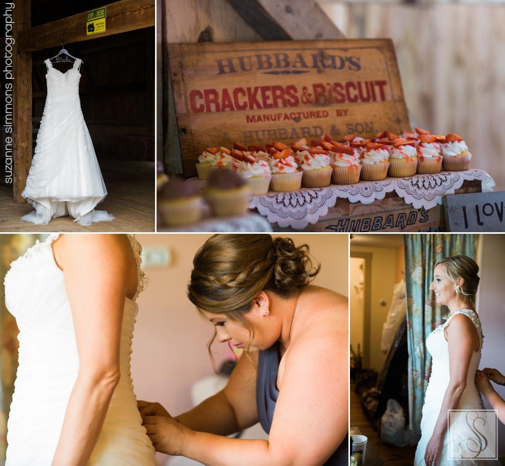 Rustic Pownal Maine Wedding