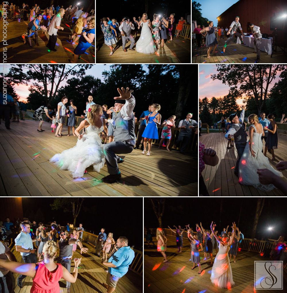 Outdoor wedding reception at The William Allen Farm