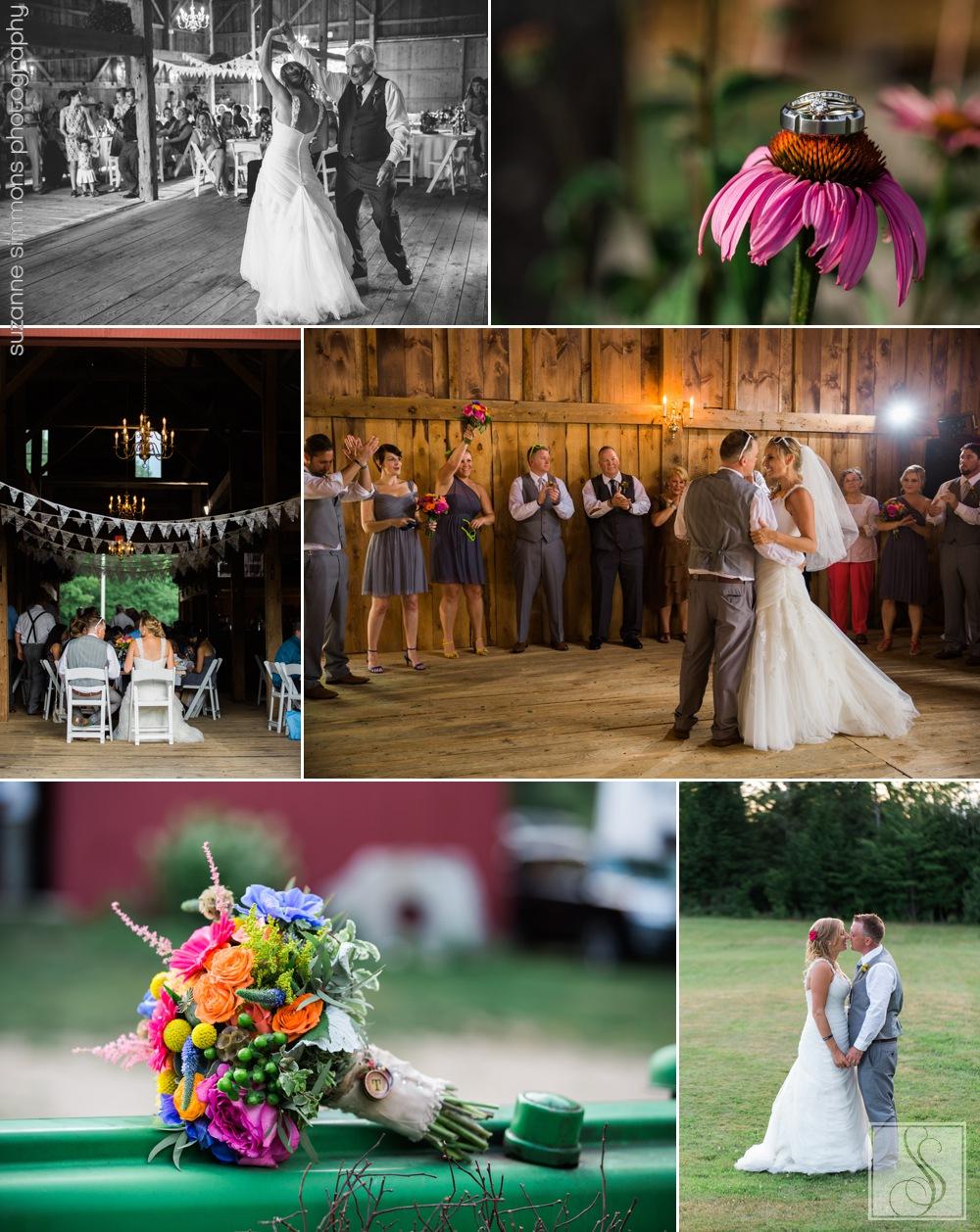 Rustic barn reception at The William Allen Farm