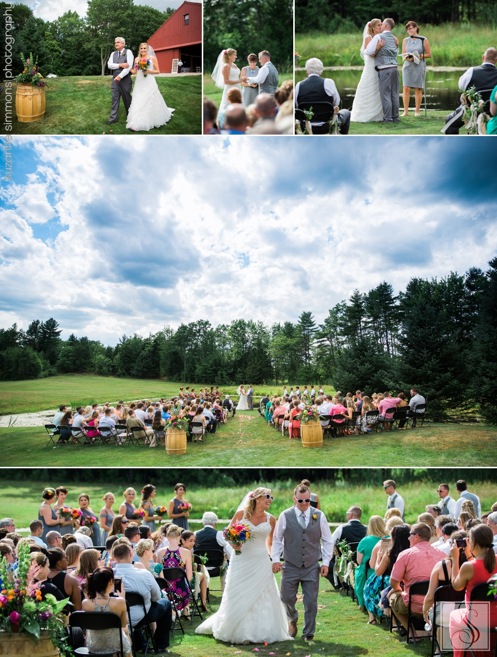 Outdoor ceremony at The William Allen Farm