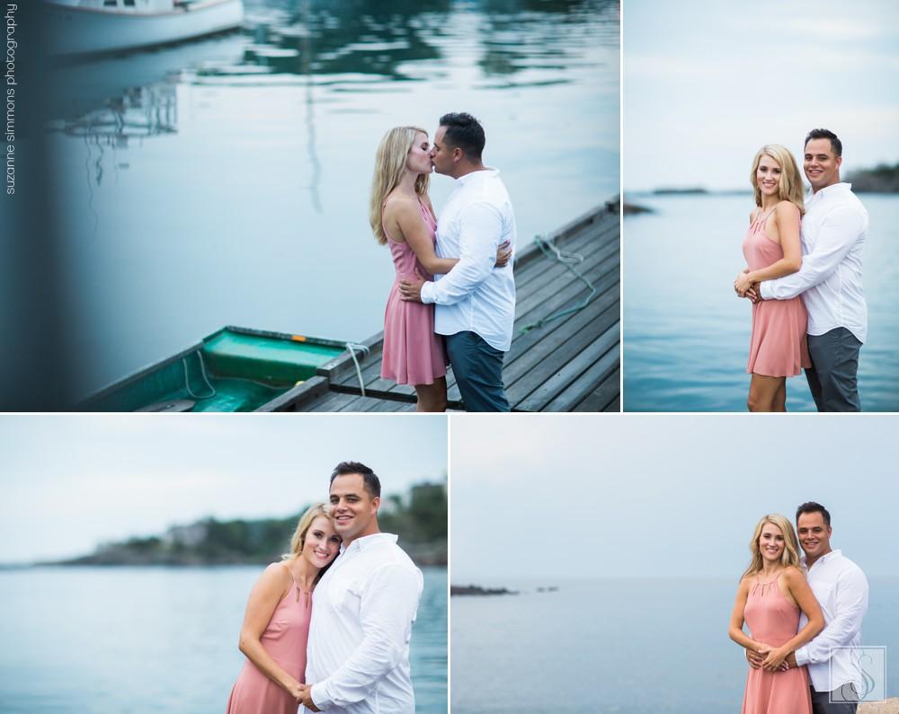 Perkins Cove Maine Engagement Portraits